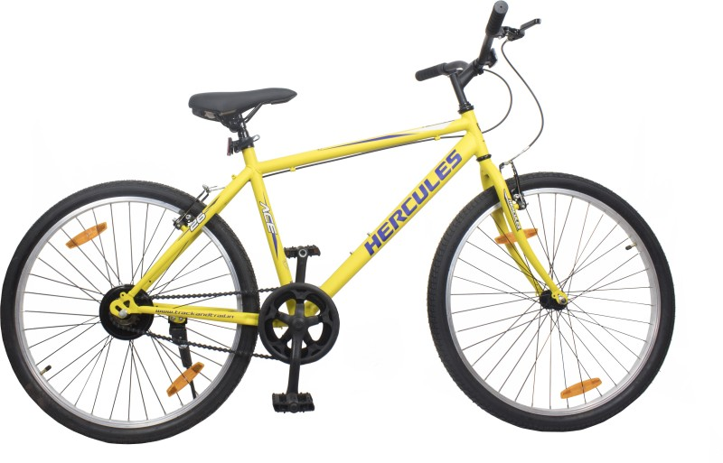 HERCULES ACE 26 T Hybrid Cycle/City Bike(Single Speed, Yellow)