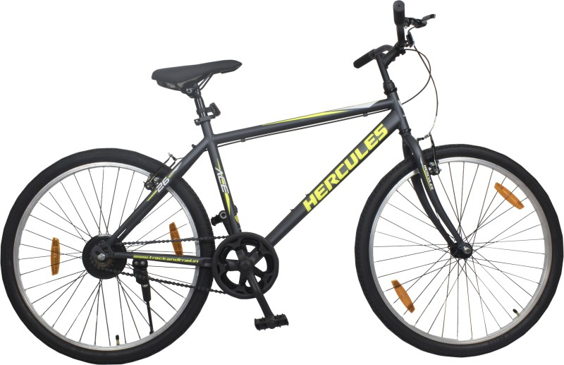 HERCULES ACE 26 T Hybrid Cycle/City Bike(Single Speed, Grey)