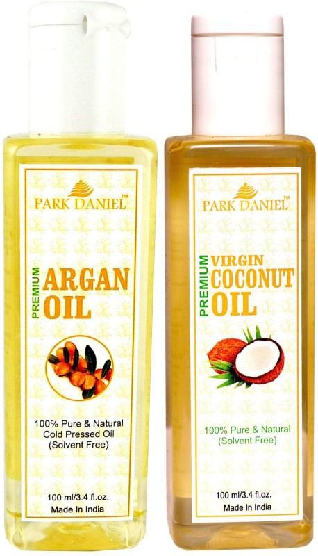 Park Daniel Premium Argan oil and Coconut oil combo of 2 bottles of 100 ml (200ml) Hair Oil(200 ml)