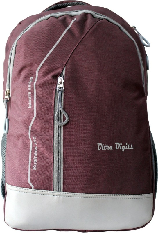 Ultra Digits UD-Wine Waterproof School Bag(Maroon, 20 L)