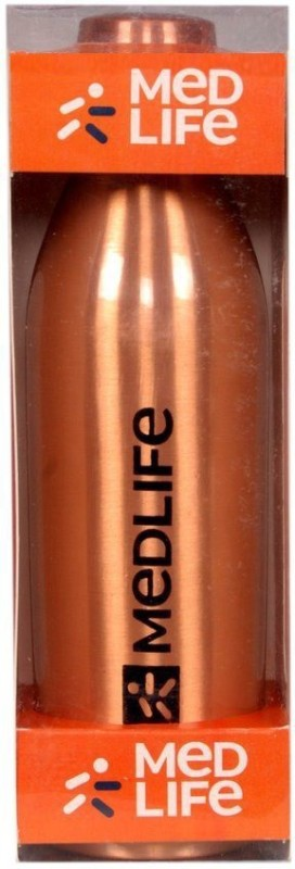 Medlife Pure Copper Bottle 1000 ml Bottle(Pack of 1, Gold)