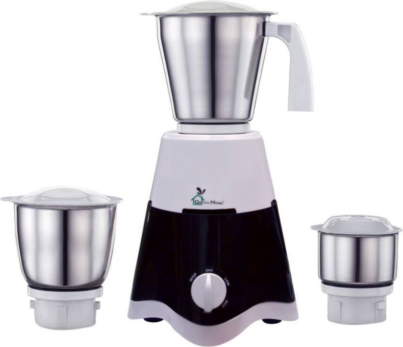 Green Home Powerful Motor OCTOPUS 3 JAR 500 W Mixer Grinder(Black, White, 3 Jars)