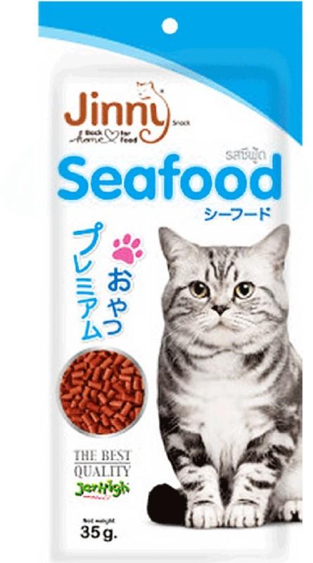 Jerhigh Jerhigh Treats for Cats Jinny Sea Food Snacks healthy cat food (35 gms) Sea Food Cat Treat(35 g)