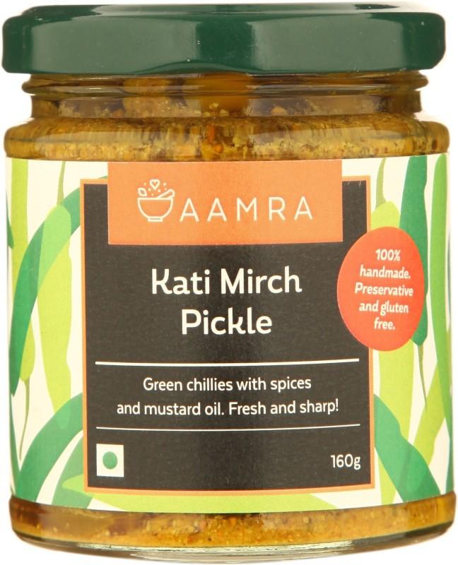 AAMRA Kati Mirch Pickle Green Chilli Pickle(160 g)