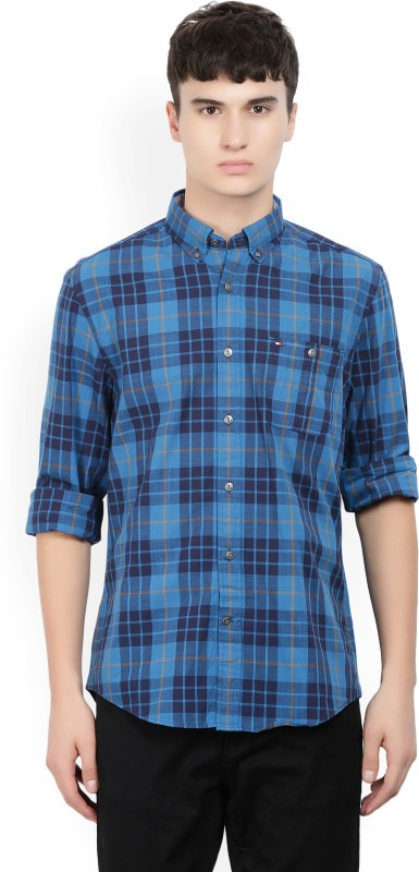 Tommy Hilfiger Mens Checkered Casual Button Down Shirt