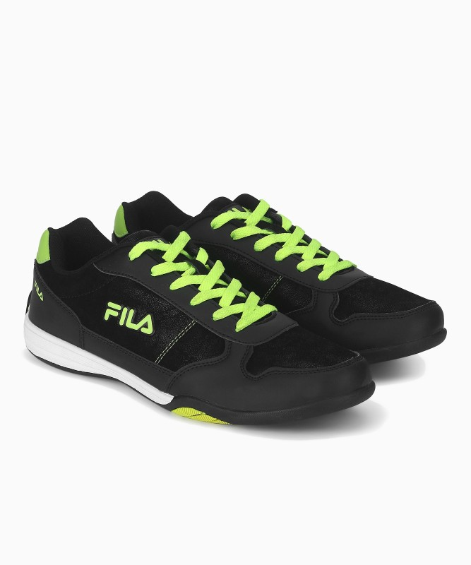 Fila ALONSO Running Shoes For Men(Black, Green)