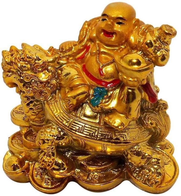 4g Laughing buddha Decorative Showpiece - 6 cm(Polyresin, Yellow)