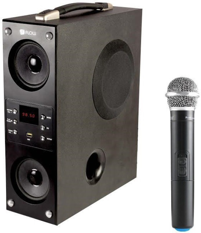 Flow Mini Boombox Karoke 40 W Bluetooth Tower Speaker(Black, 2.1 Channel)