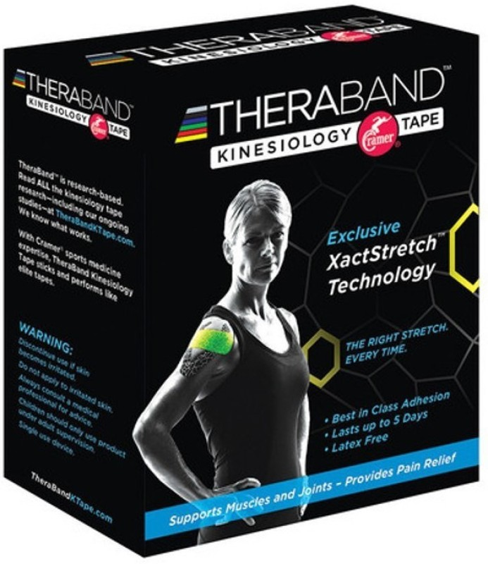 Thera-Band Kinesiology Support Tape(Black, Grey)