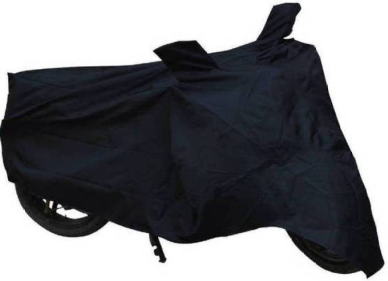 3 COM Two Wheeler Cover for Mahindra(Rodeo, Black)