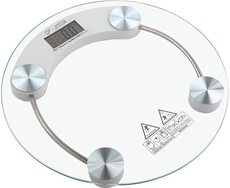 Taran Personal Scale 180 Kg Weighing Scale(Transparent)
