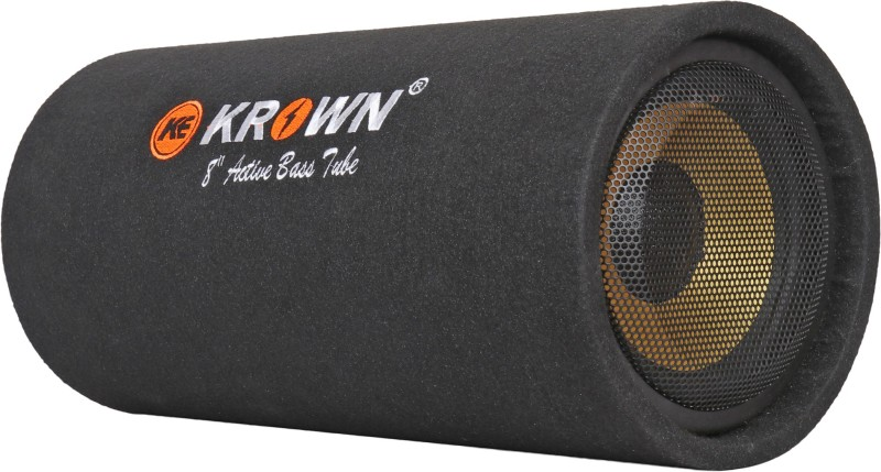 Krown CBT-8AR CBT-08AR Active Car Bass Tube -8 inch 3600W output with inbuilt Amplifier Subwoofer Subwoofer(Powered , RMS Power: 380 W)