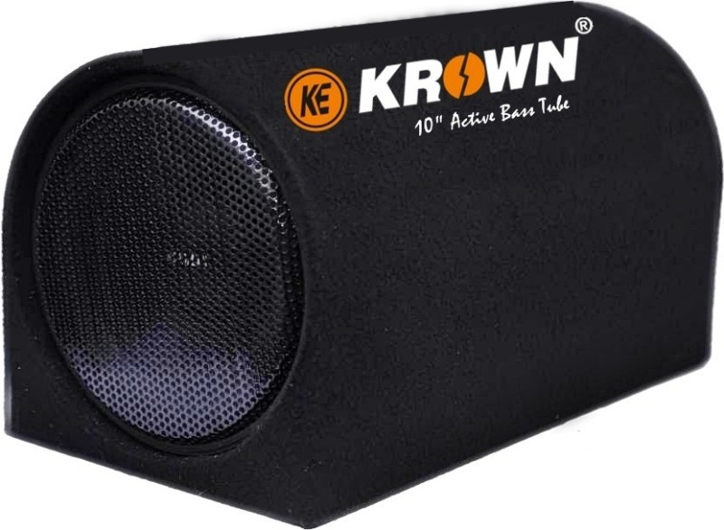 Krown KBT-10M Krown 4800W D Shape Basstube with inbuilt Amplifier Subwoofer(Powered , RMS Power: 450 W)