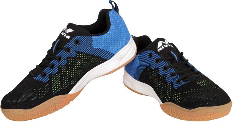 Nivia Badminton Shoes For Men(Black, Blue)