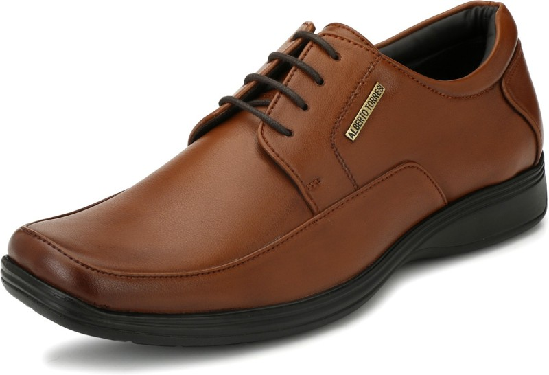 Alberto Torresi Lace Up For Men(Brown)
