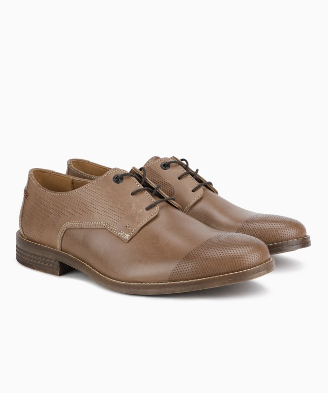 Hush Puppies GLITCH PARKVIEW Lace Up For Men(Brown)