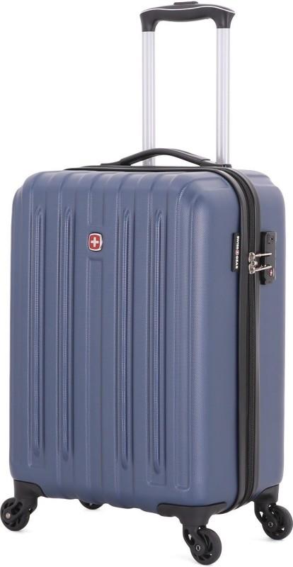 Swiss Gear 19Spinner With TSA Lock Blue Cabin Luggage - 19 inch(Blue)