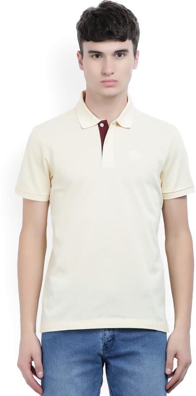 Arrow Sport Woven Mens Polo Neck Beige T-Shirt