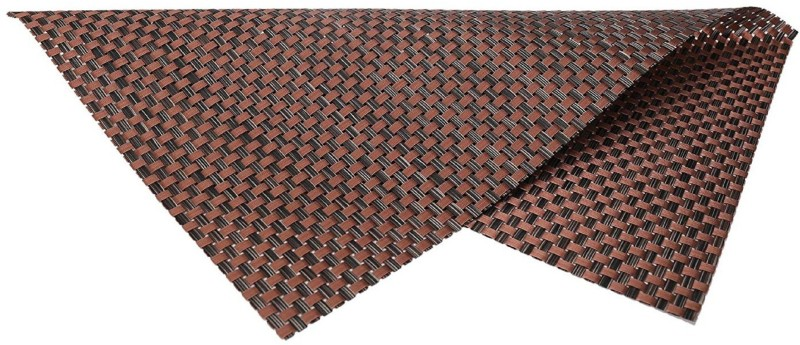 LooMantha Rectangular Pack of 6 Table Placemat(Brown, PVC (Polyvinyl Chloride))