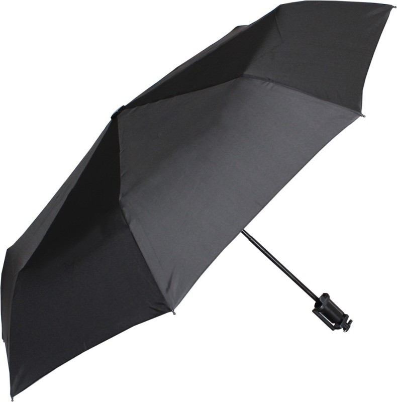 Johns BLUETOOTH SELFIE 3 FOLD UMBRELLA Umbrella(Black)