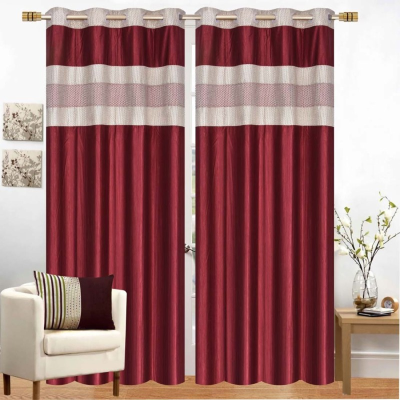 check MRP of velvet curtains red TrueValue Creations