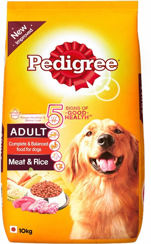 Pedigree Adult Meat&Rice Rice 10 kg Dry Dog Food