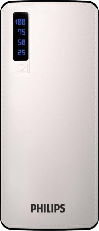 Philips 11000 mAh Power Bank (10 W, Fast Charging)(White, Lithium-ion)