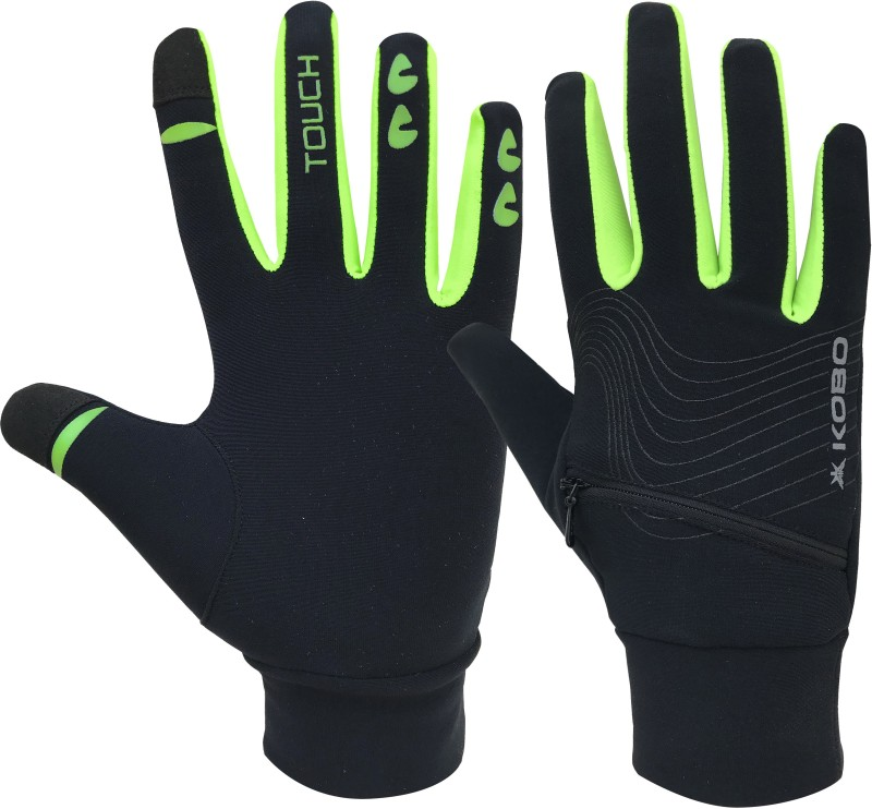 Kobo Fleece Running (Small) Running Gloves (S, Black)