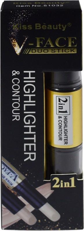 Kiss Beauty 2in1 V-FACE Concealer Highlighter & Contour Dou Stick 51032-C Concealer(Golden Medium, 8 g)