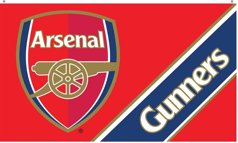 Arsenal FC Arsenal Rectangle Hand Flag Flag(Polyester)