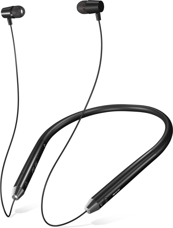 SoundLogic Voice Assistant Wireless Neckband Bluetooth Headset with Mic(Black, In the Ear)