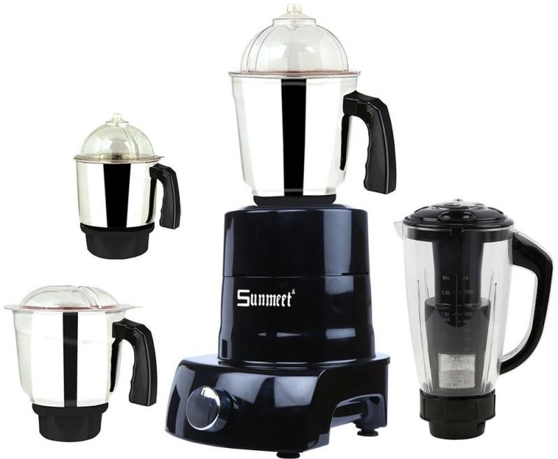 Sunmeet Black4jar600W 600 Mixer Grinder(Black, 4 Jars)