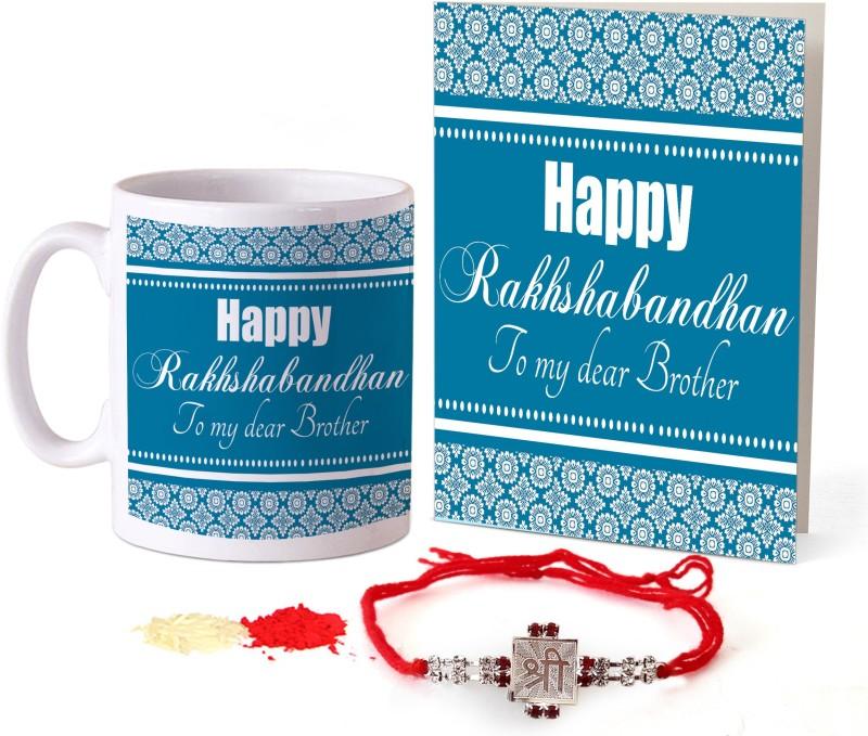 Tied Ribbons Designer Rakhi Set(1 Rakhi, 1 Printed Coffee Mug, 1 Greeting Card, 1 Roli Chawal Pack)