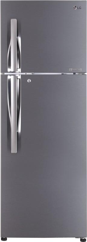 LG 335 L Frost Free Double Door 3 Star Refrigerator(Shiny Steel, GL-T372JPZU)