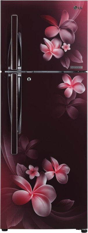 LG 284 L Frost Free Double Door 4 Star Refrigerator(Scarlet Plumeria, GL-T302RSPN)