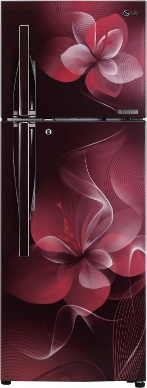 LG 308 L Frost Free Double Door 3 Star Refrigerator(Scarlet Dazzle, GL-T322RSDU)
