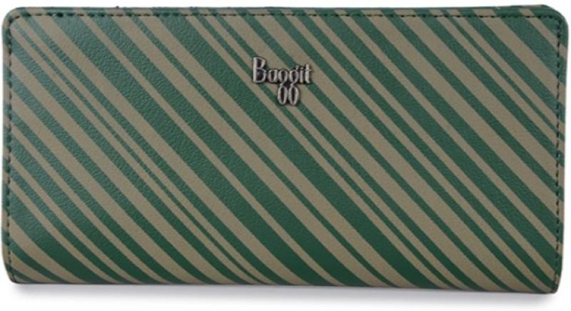 Baggit Women Casual Green, Beige Artificial Leather Wallet(6 Card Slots)