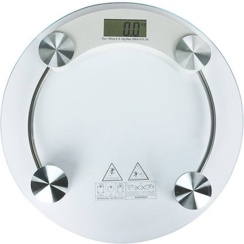Zeom Digital Personal Bathroom Weighing Scale Machine LCD Display Weighing Scale  (White) Weighing Scale(Transparent)