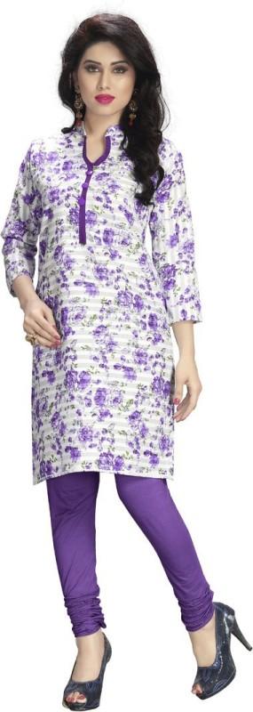 Venisa Casual Floral Print Women's Kurti(Multicolor)