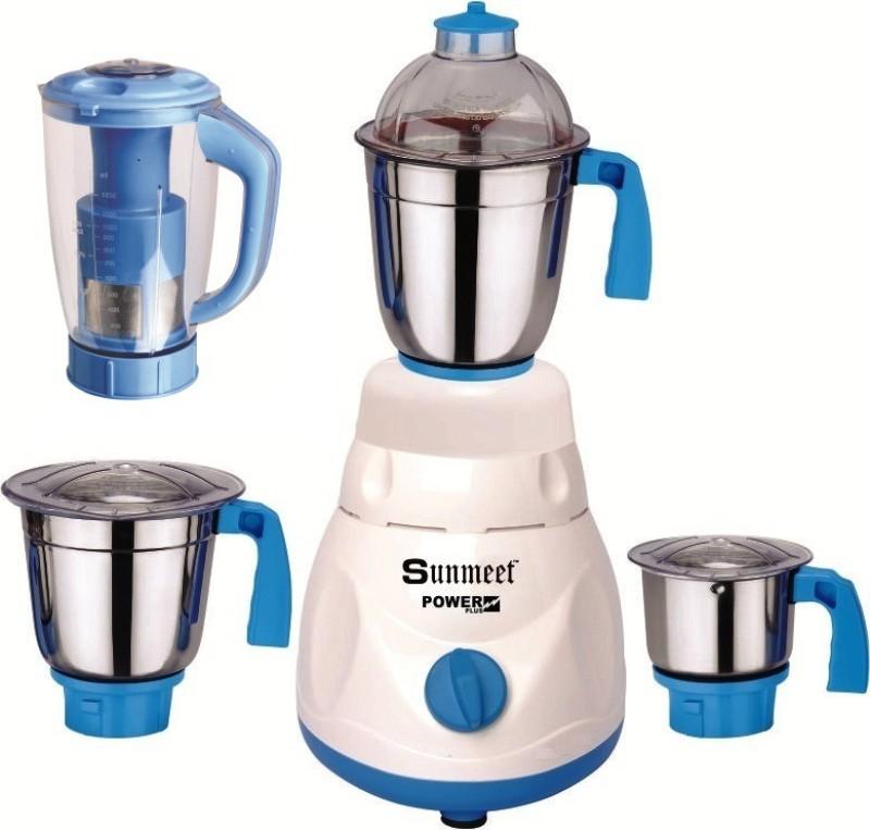Sunmeet Mrf 750 MrfWhite4jar750W 750 W Mixer Grinder(White, 4 Jars)