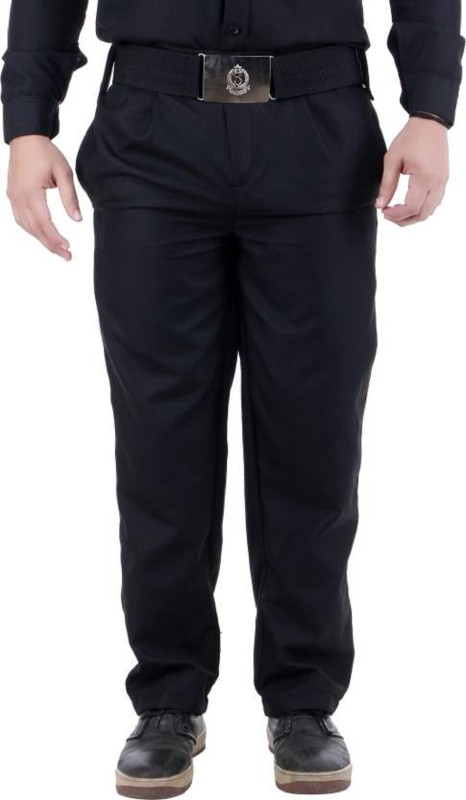 22B Slim Fit Mens Black Trousers
