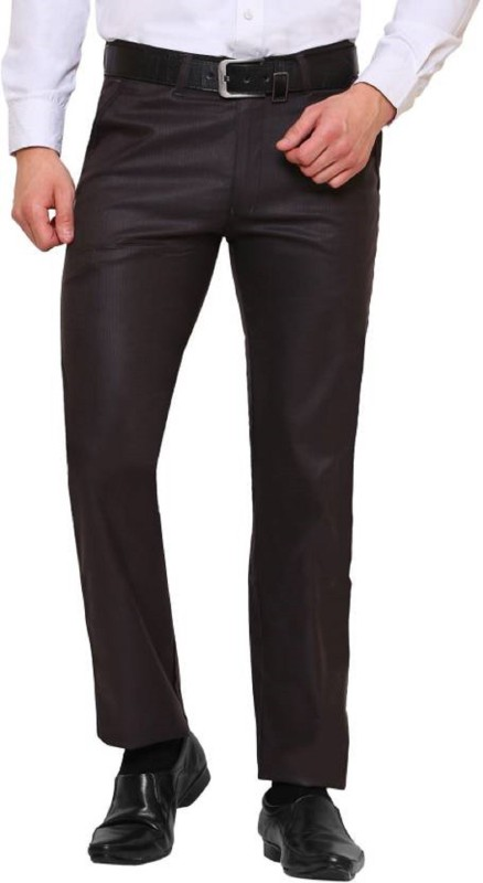 22B Slim Fit Mens Brown Trousers