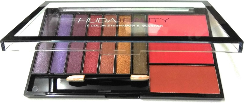 Huda Beauty Liquid Mattee 10 EYE SHADOW & BLUSHER EYE MAKE UP SET 20 g(MALTICOLOR)