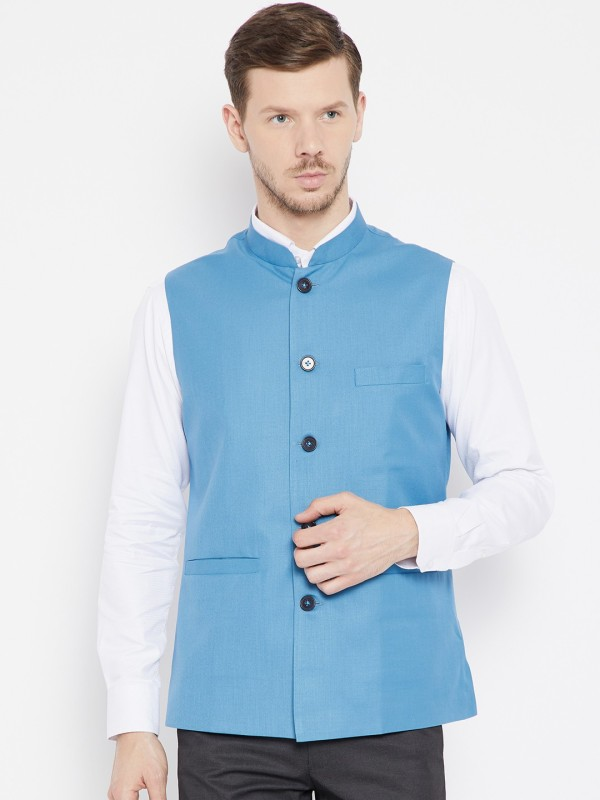 Shaftesbury London Sleeveless Solid Men Jacket