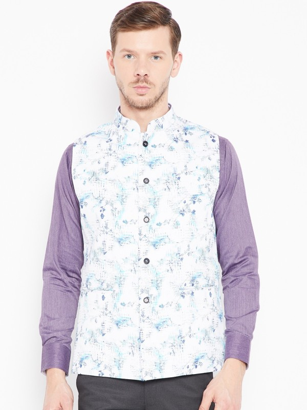 Shaftesbury London Sleeveless Printed Men Jacket