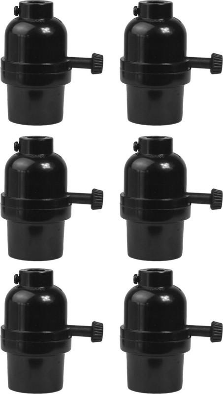 Kapoor E Illuminations GP2650453-6 E-26 Phenolic Lamp Holder 3way Turn knob switch Plastic Light Socket(Pack of 6)