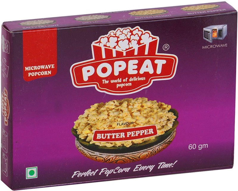 PopEat Butter Pepper Butter Pepper Popcorn(660 g, Pack of 11)