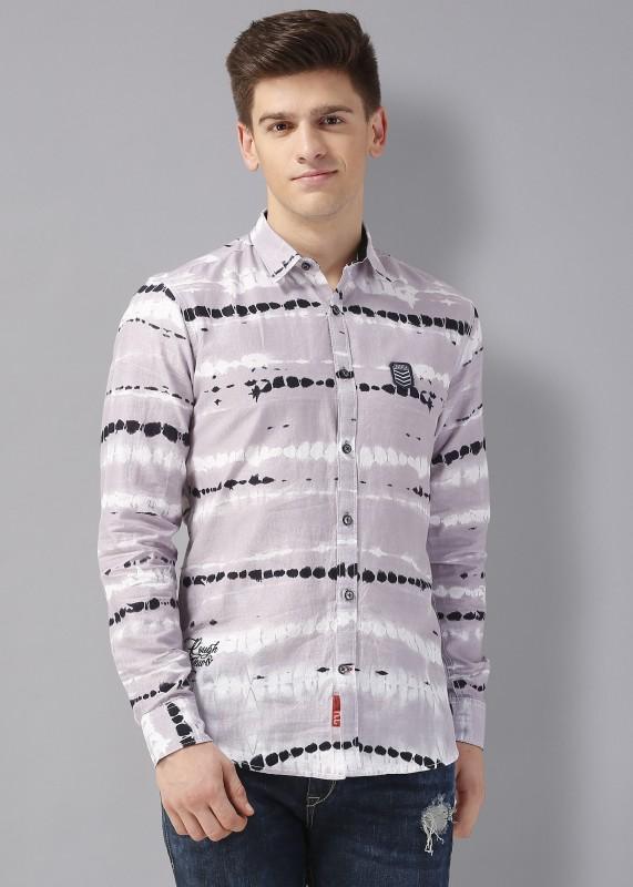 Rodid Men Printed Casual Grey Shirt