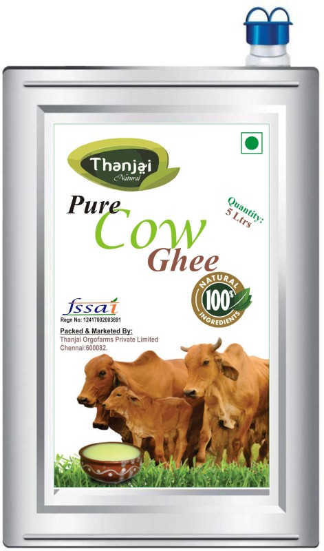 THANJAI NATURAL Natural 100% Purity Cow Ghee 5 Litre in Low Price Best Offer 5 L Plastic Bottle