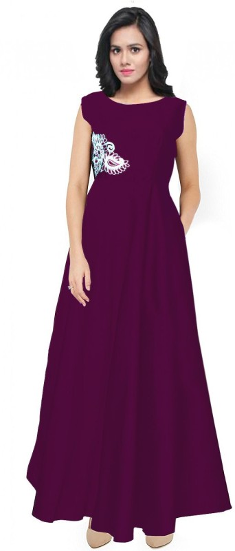 Spangel Enterprise Ball Gown(Maroon)